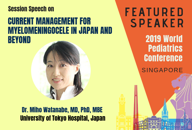 Dr. Miho Watanabe session speaker at pediatric_2019 WPC