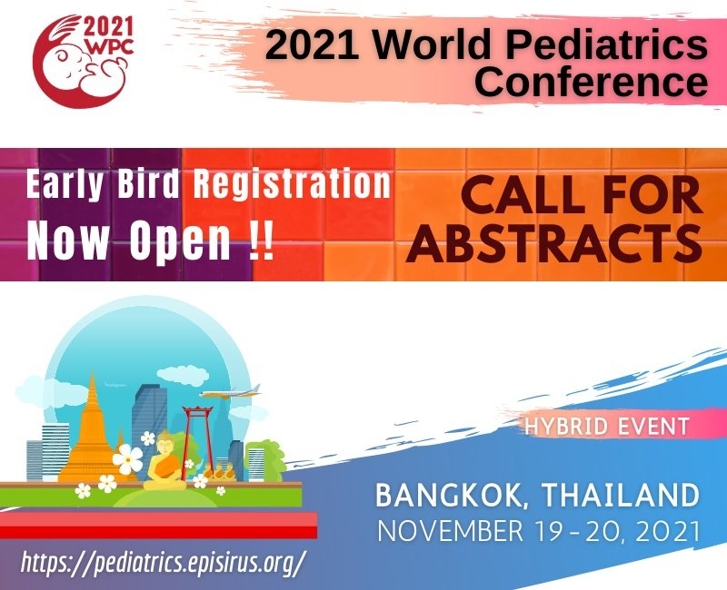 2021WPC_Call for Abstract and Early Bird Registration Pediatrics Conference